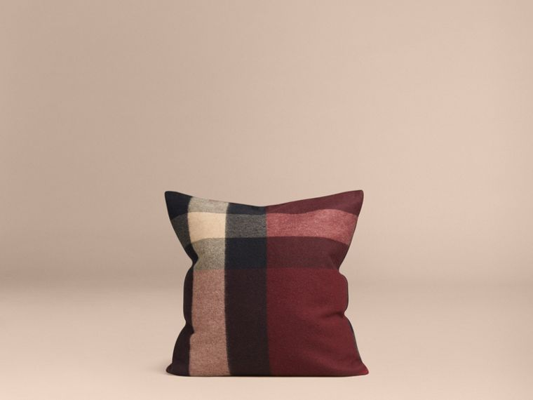 Claret Check Cashmere Cushion Cover Claret - cell image 2