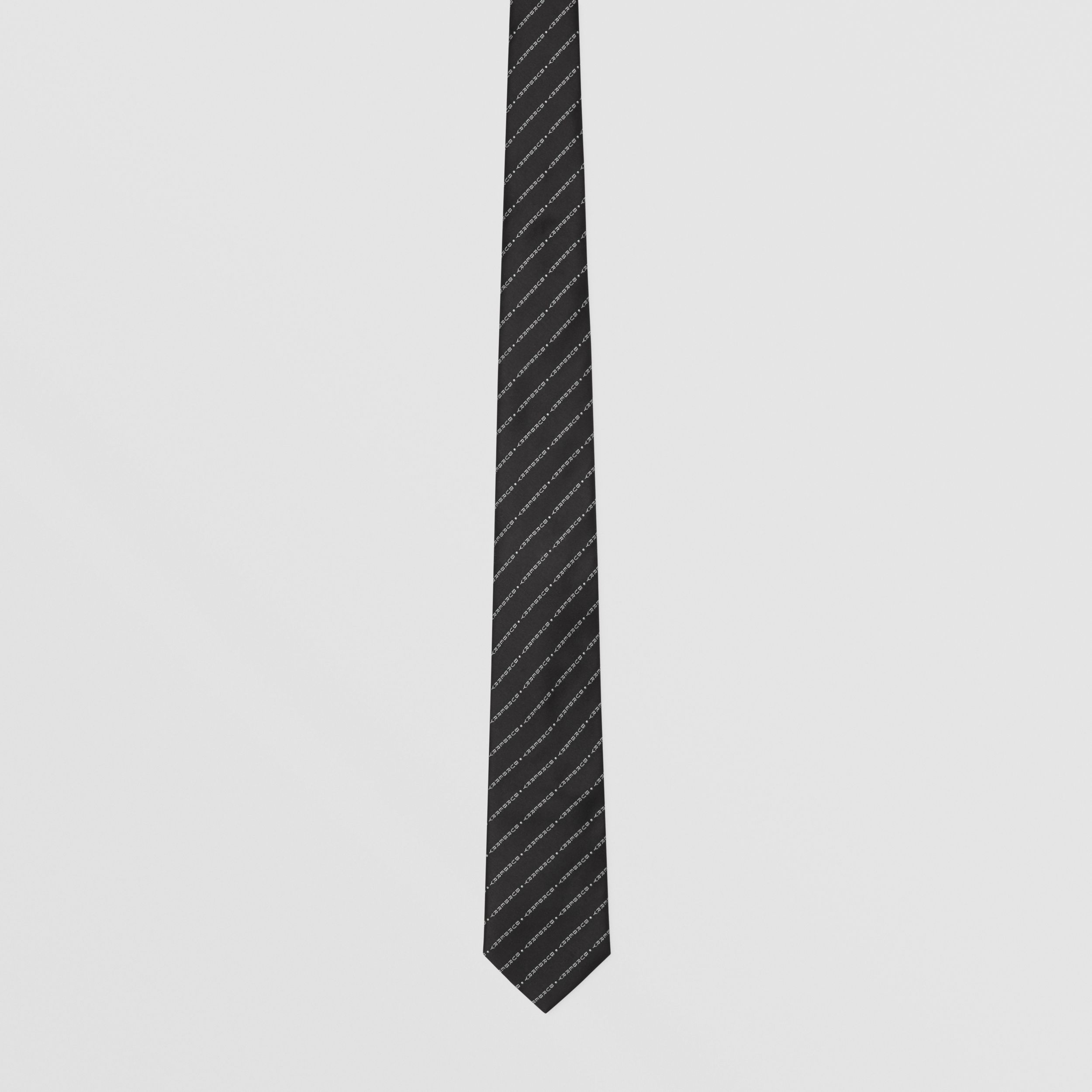 Classic Cut Logo Silk Jacquard Tie in Black - Men | Burberry - 4