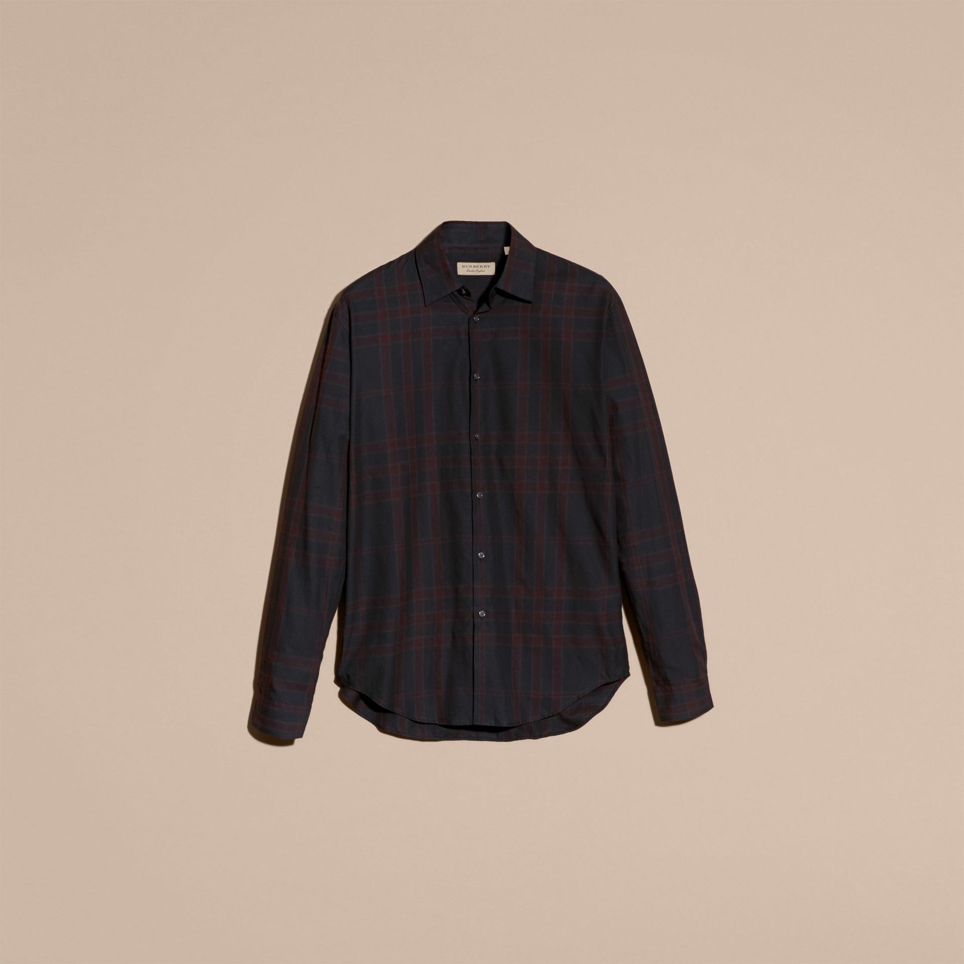 Baie de sureau sombre Chemise en coton à motif check Baie De Sureau Sombre - photo de la galerie 4