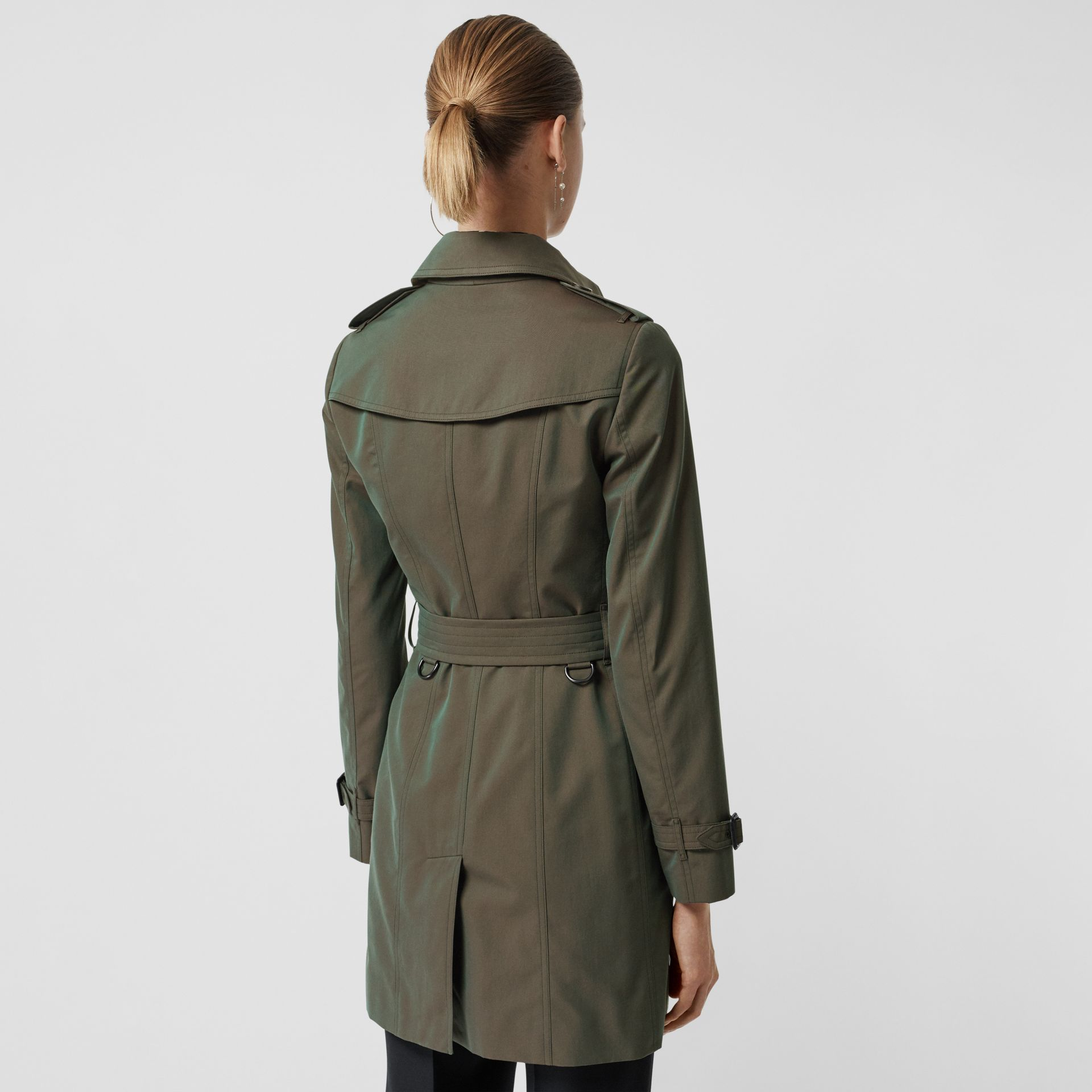 Sandringham Fit Cotton Gabardine Trench Coat in Dark Antique Green - Women | Burberry - gallery image 2