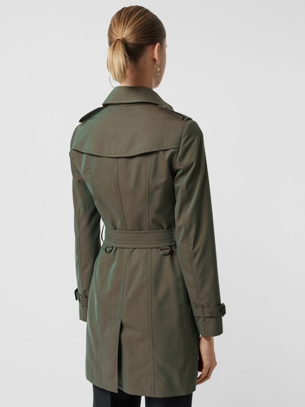 Sandringham Fit Cotton Gabardine Trench Coat in Dark Antique Green - Women | Burberry - cell image 2