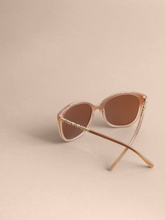 Check Detail Square Frame Sunglasses Trench - cell image 3