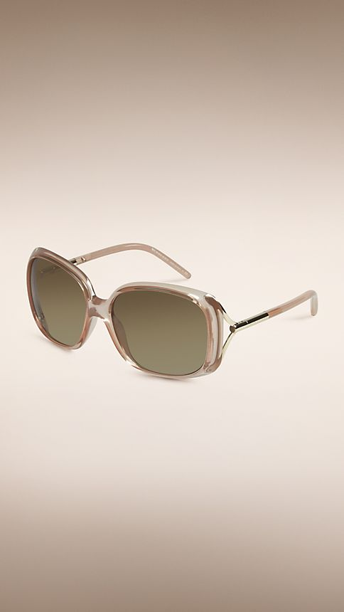 Sepia Trench Collection Oversize Rounded Frame Sunglasses - Image 1