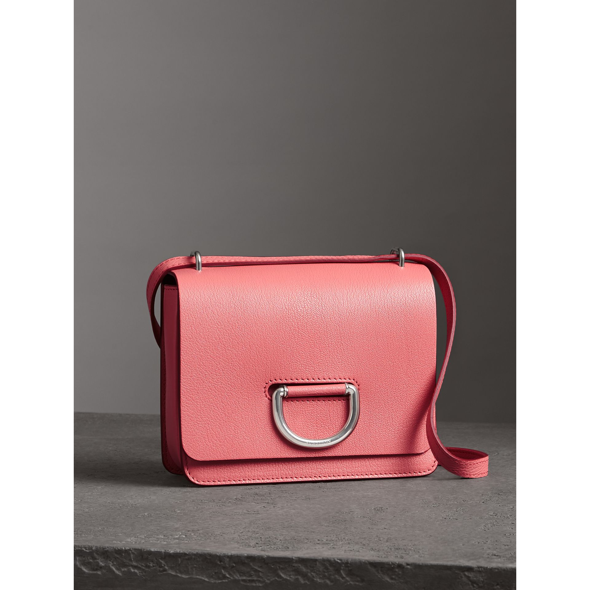 The Small Leather D-ring Bag in Bright Coral Pink - Women | Burberry Hong Kong - gallery image 4