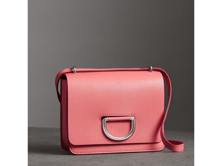 The Small Leather D-ring Bag in Bright Coral Pink - Women | Burberry - cell image 4