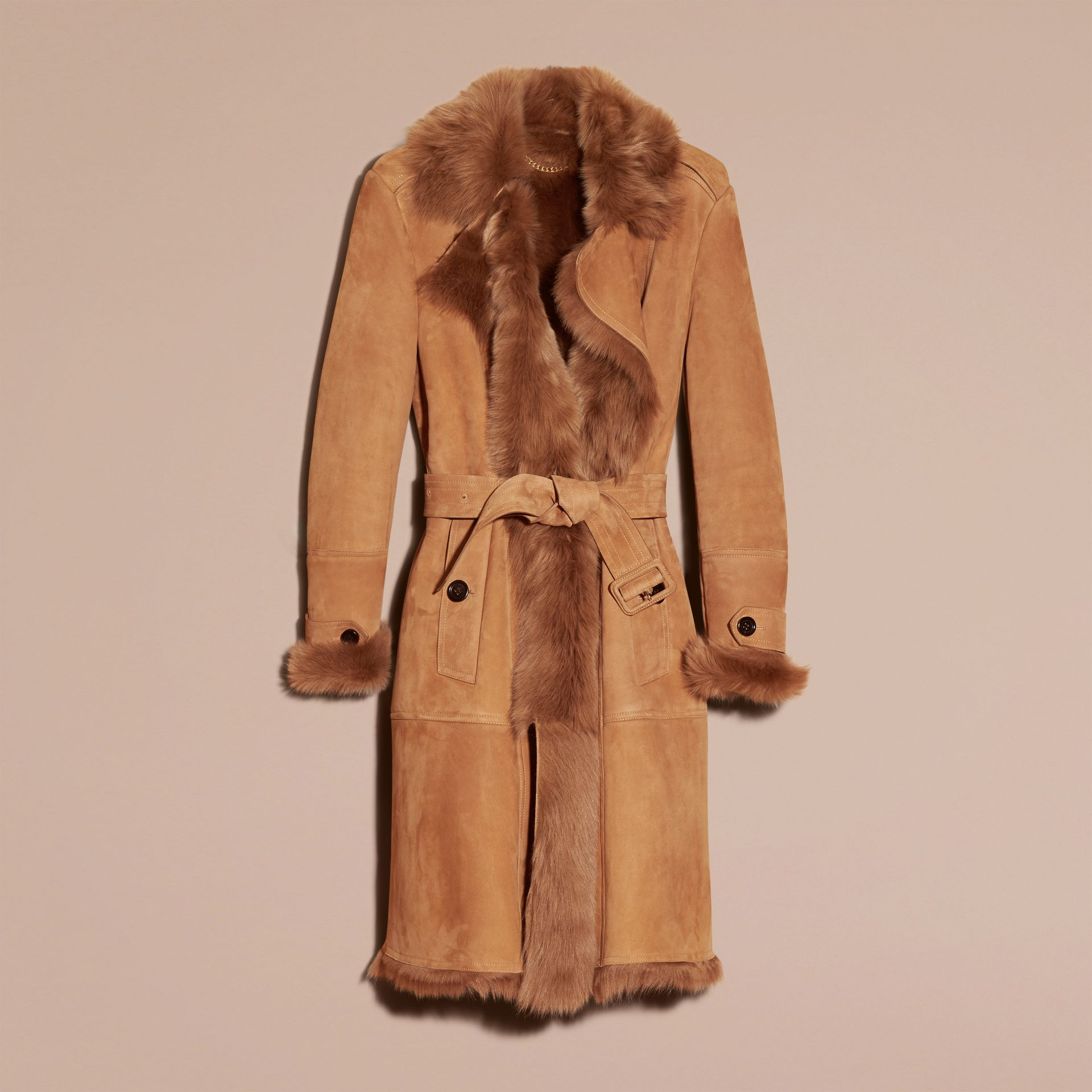 Shearling Wrap Coat - gallery image 3