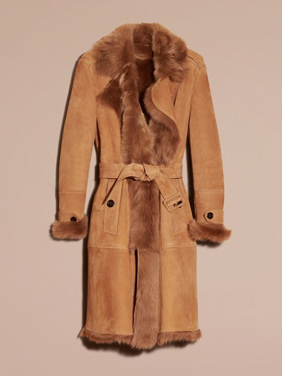 Shearling Wrap Coat - cell image 2