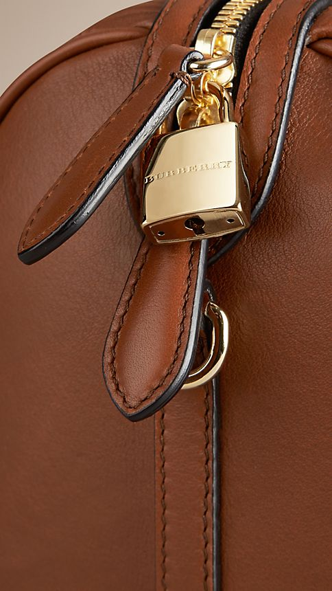 Tan The Medium Alchester in Embossed Check Leather - Image 7