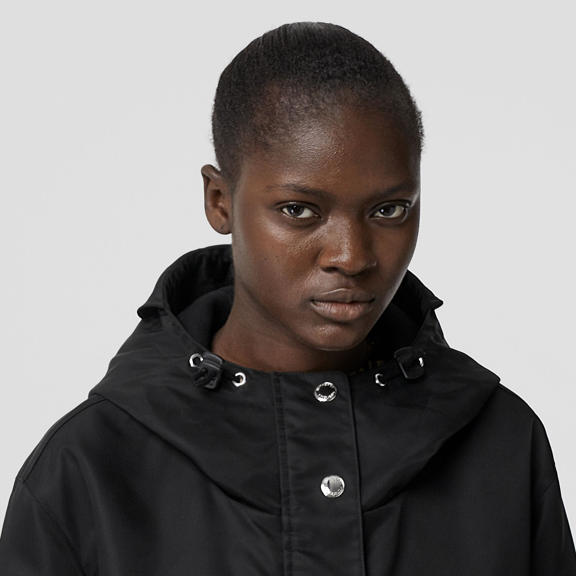 Horseferry Print Nylon Twill Parka in Black - Women | Burberry United Kingdom - gallery image 5