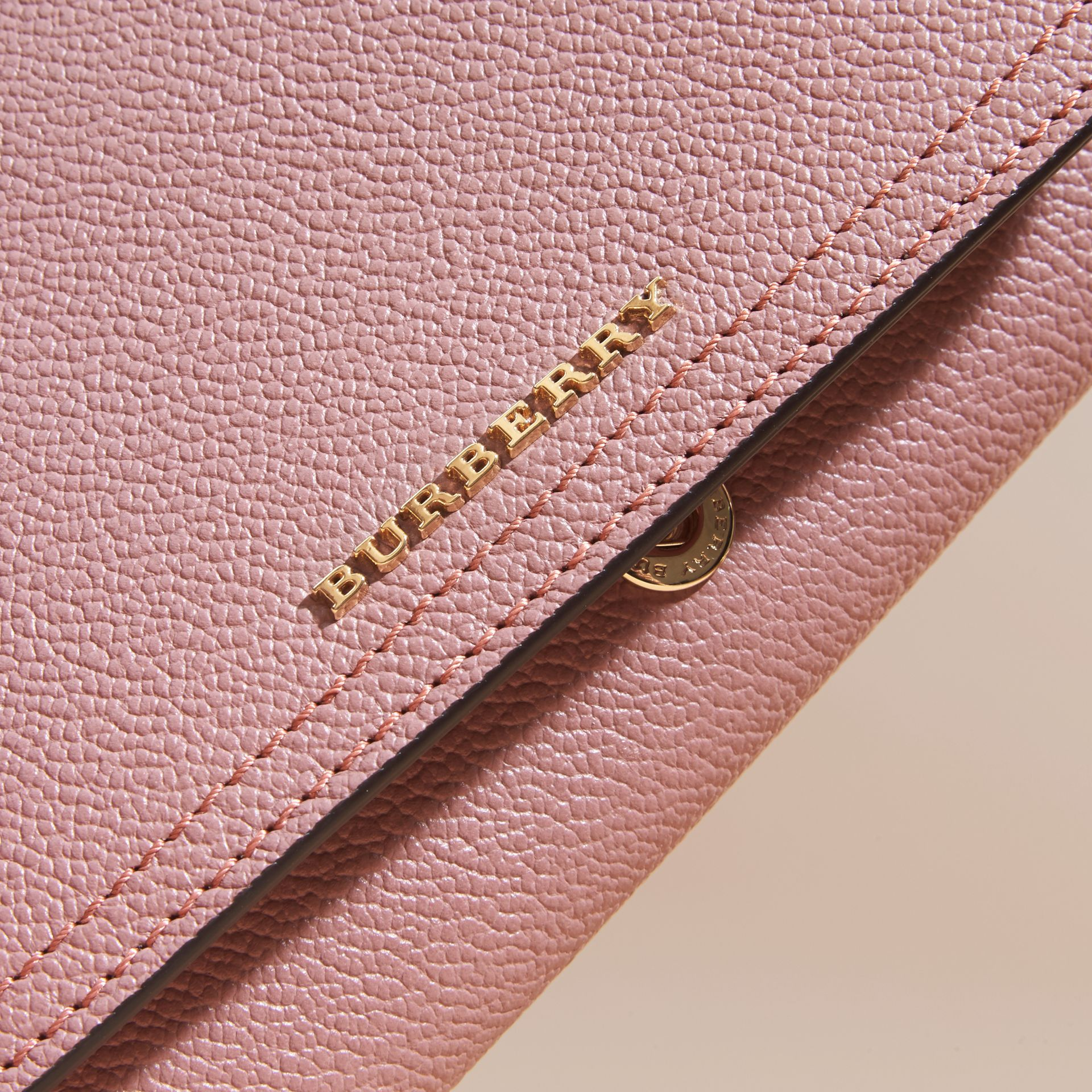Leather Continental Wallet with Removable Coin Case Dusty Pink - gallery image 2