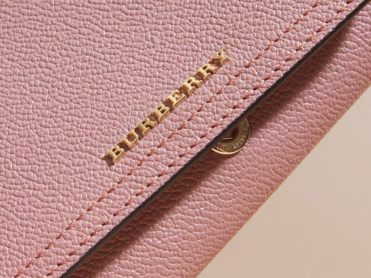 Leather Continental Wallet with Removable Coin Case Dusty Pink - cell image 1