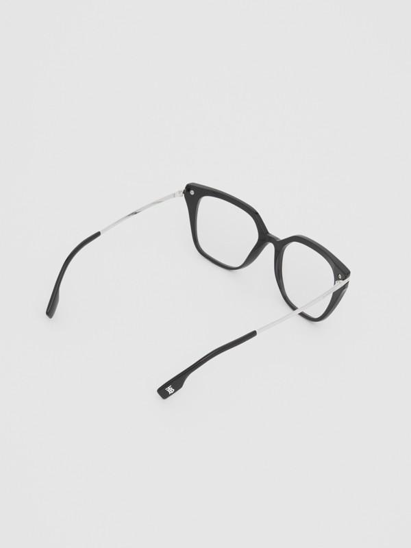 Monogram Motif Square Optical Frames in Black - Women | Burberry - cell image 3