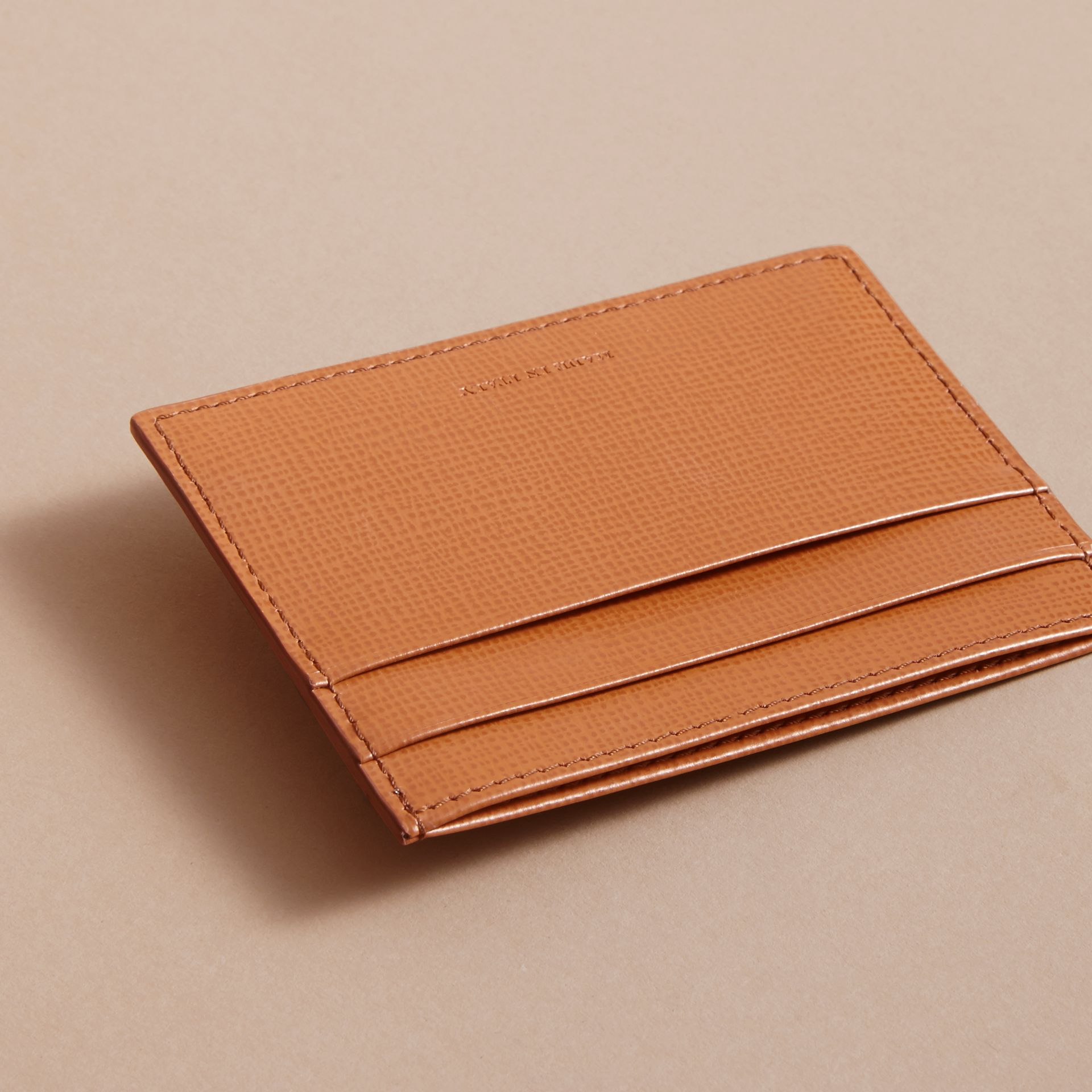 London Leather Card Case in Tan | Burberry Singapore - gallery image 3