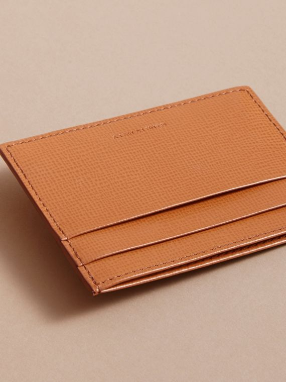 London Leather Card Case in Tan | Burberry Canada - cell image 2