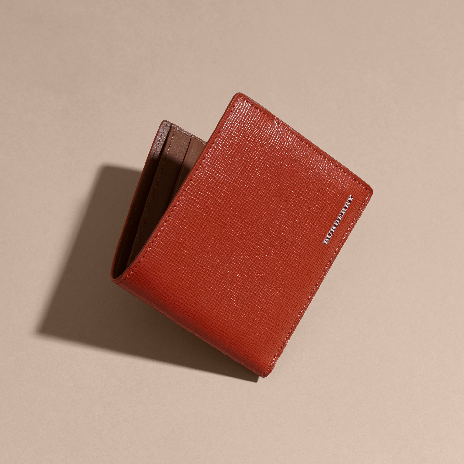 London Leather Folding Wallet Burnt Sienna - gallery image 4