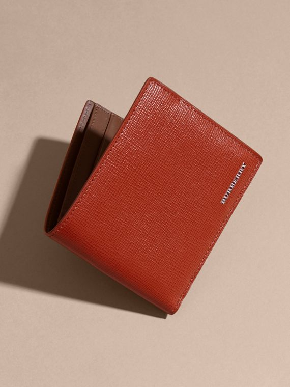 London Leather Folding Wallet Burnt Sienna - cell image 3