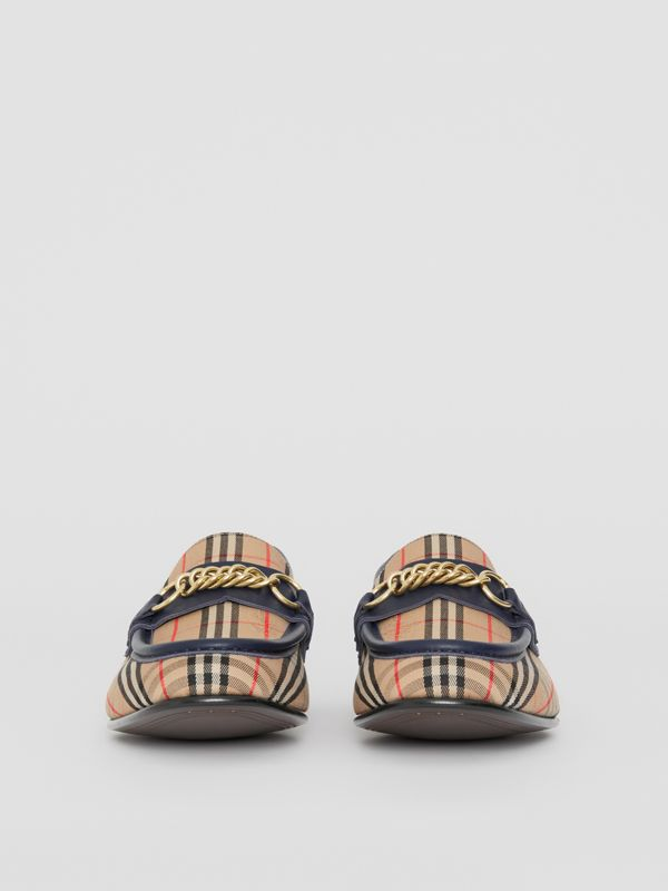 The 1983 Check Link Loafer in Ink Blue - Men | Burberry - cell image 3