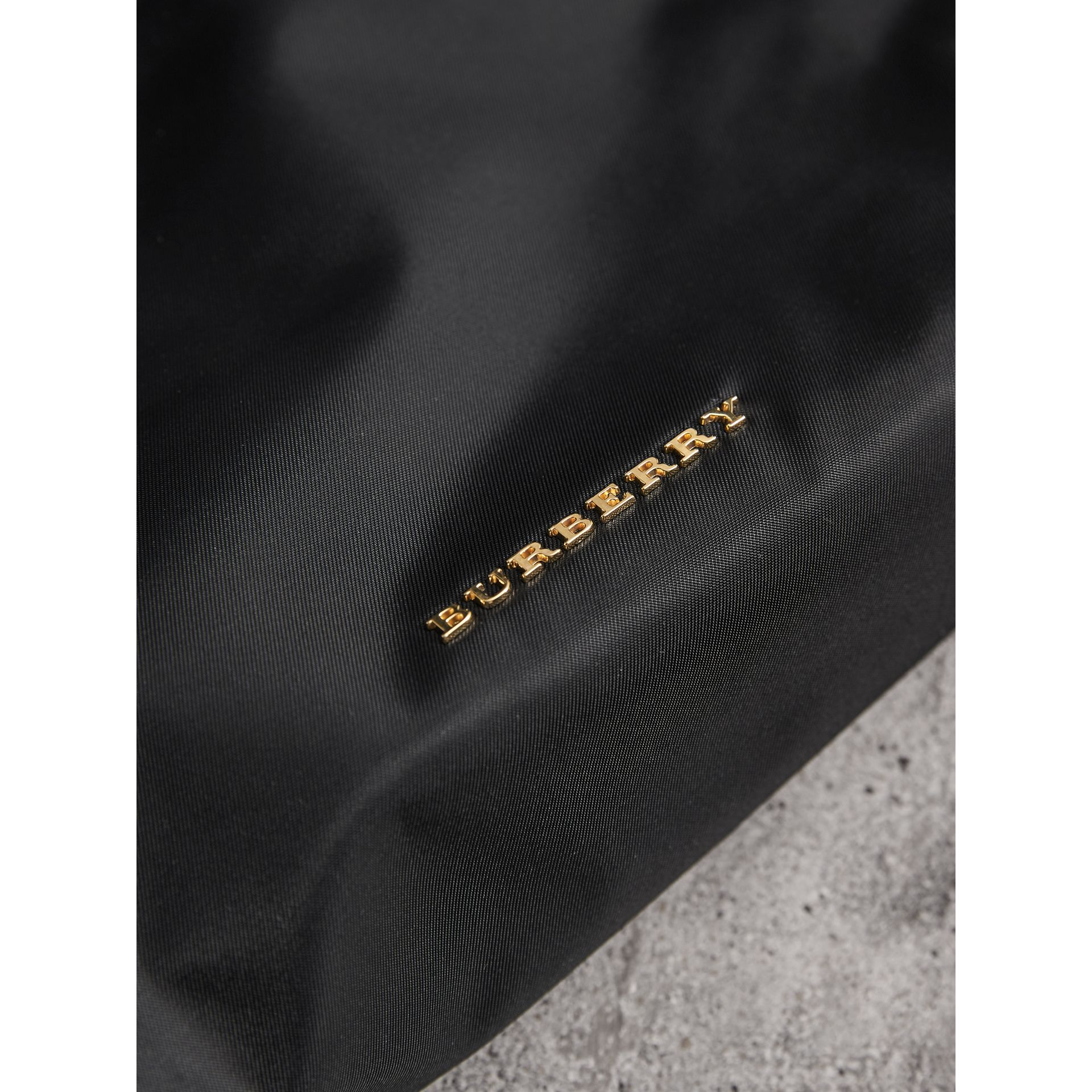 Large Zip-top Technical Nylon Pouch in Black - Women | Burberry Australia - gallery image 6