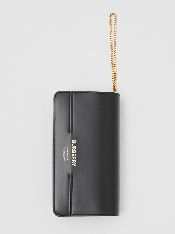 Leather Grace Clutch in Black - Women | Burberry - cell image 3