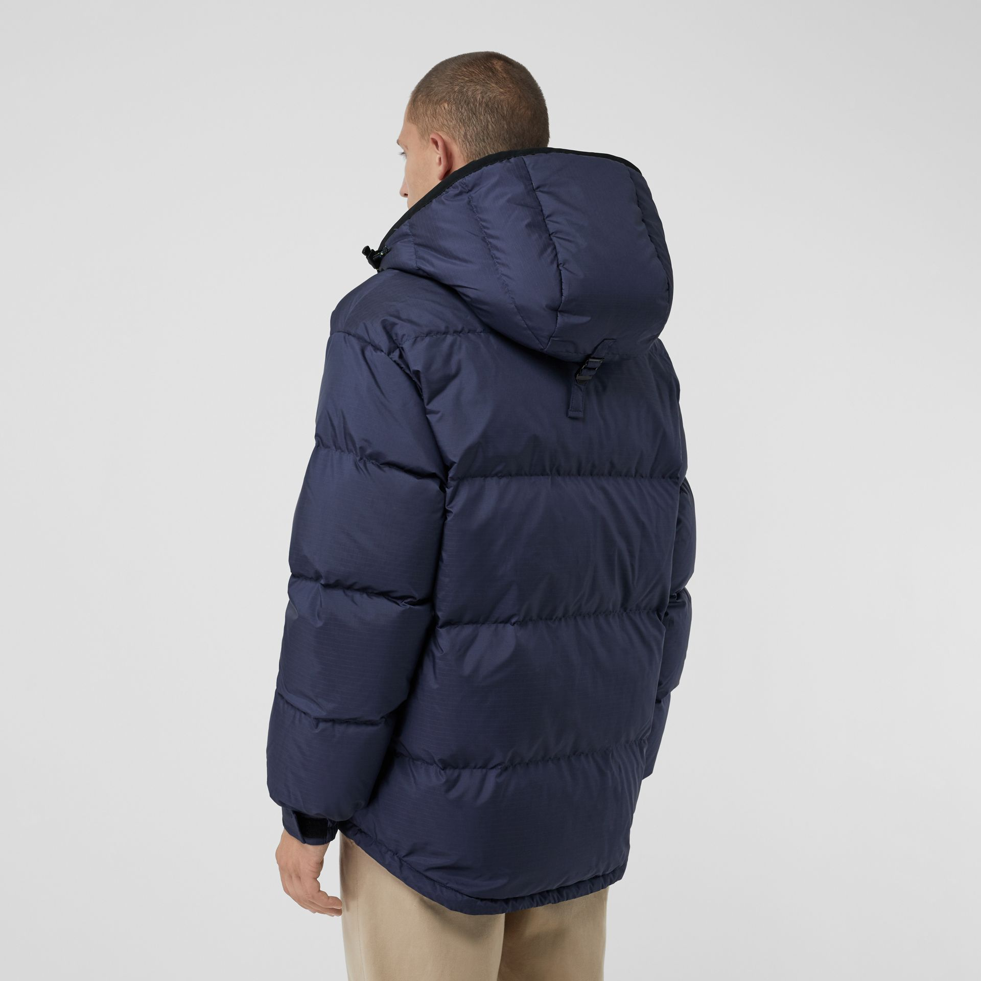 Down-filled Anorak with Detachable Mittens in Ink - Men | Burberry United Kingdom - gallery image 2