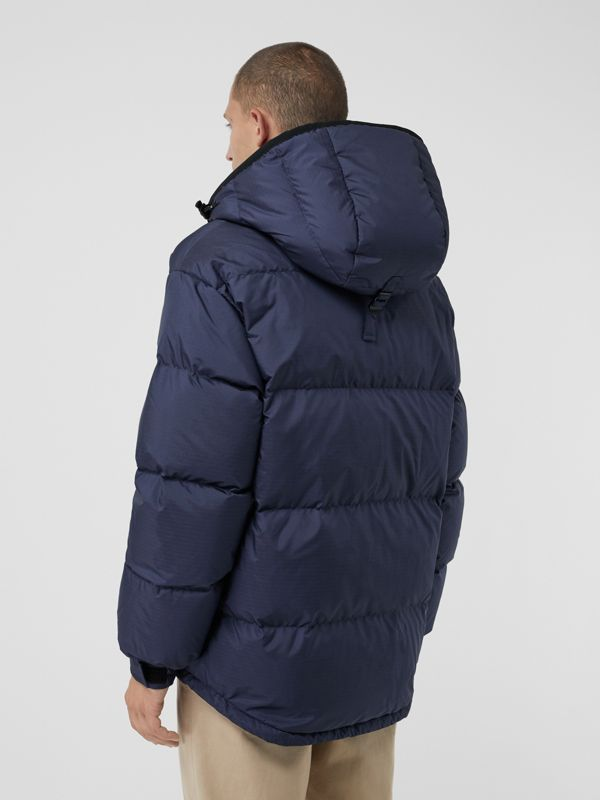 Down-filled Anorak with Detachable Mittens in Ink - Men | Burberry United Kingdom - cell image 2