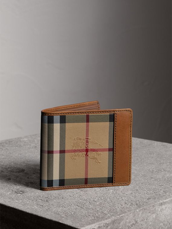 Horseferry Check International Bifold Wallet in Tan