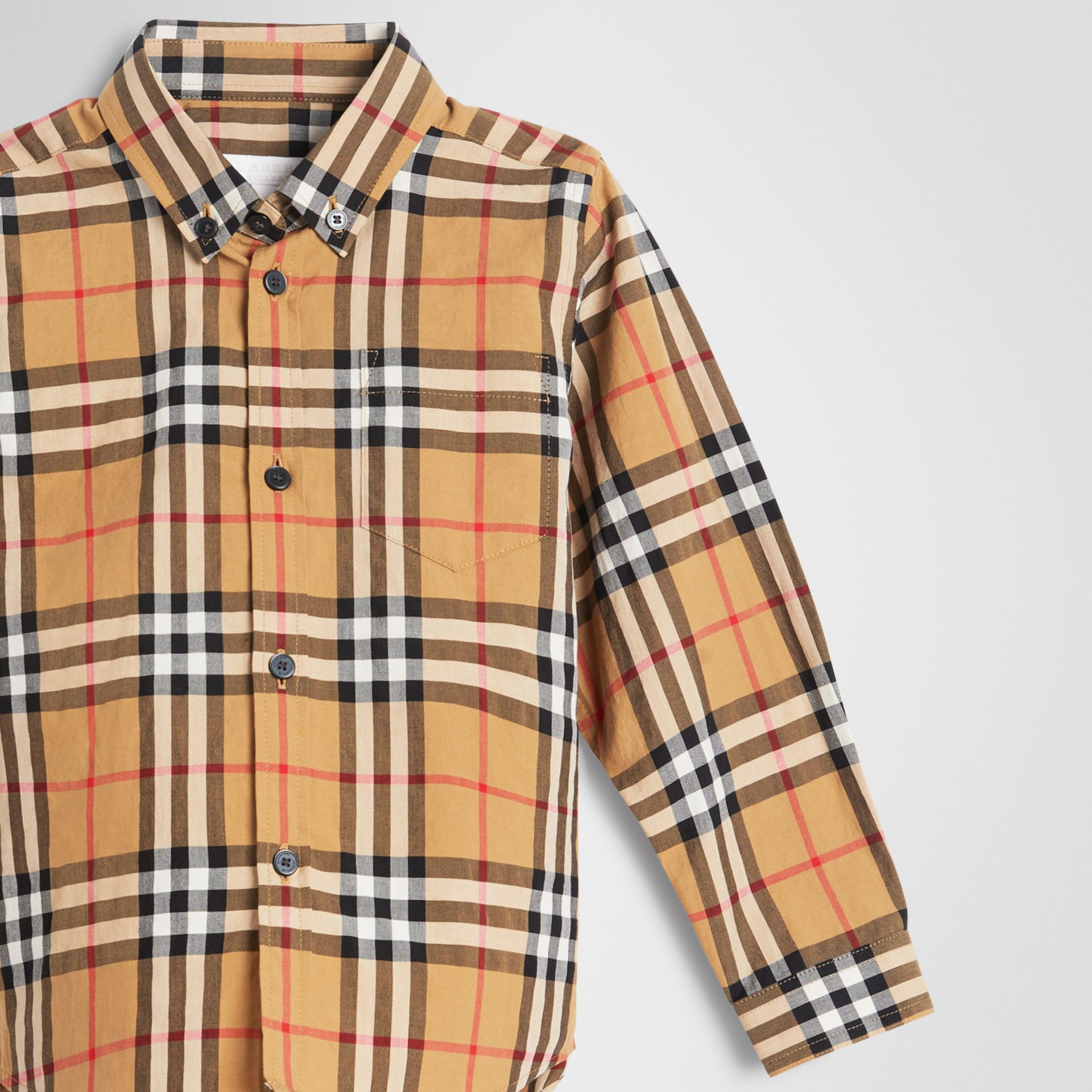 Button-down Collar Vintage Check Shirt in Antique Yellow | Burberry United Kingdom - gallery image 4