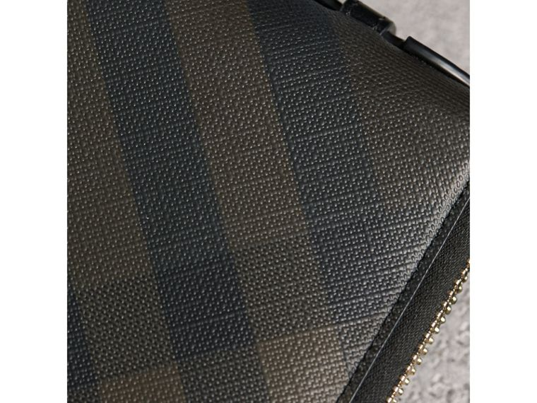 London Check Travel Wallet in Chocolate/black - Men | Burberry - cell image 1