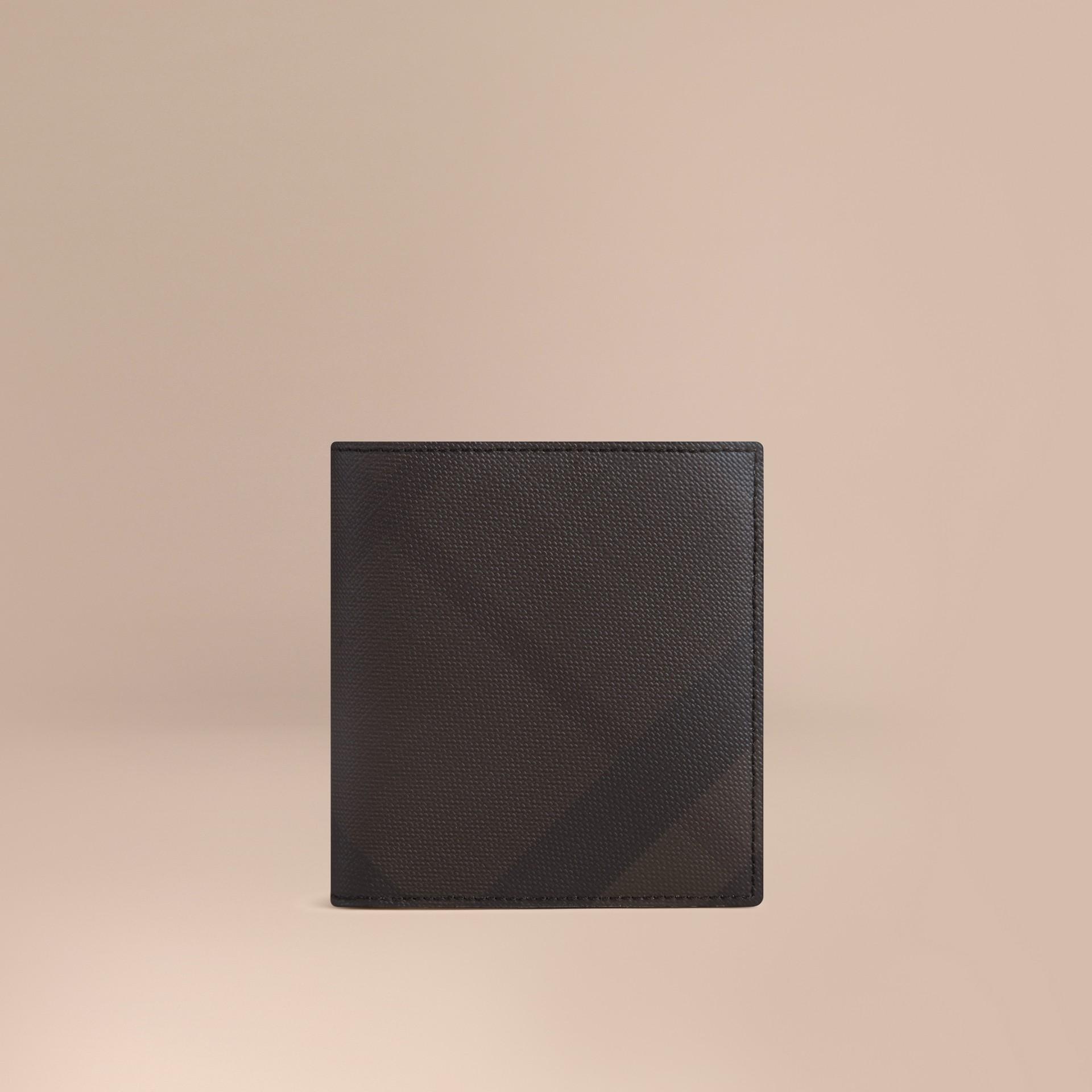 초콜릿/블랙 스모크 체크 아이디 지갑 초콜릿/블랙 - 갤러리 이미지 1