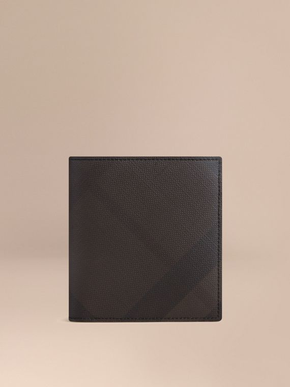 London Check ID Wallet Chocolate/black