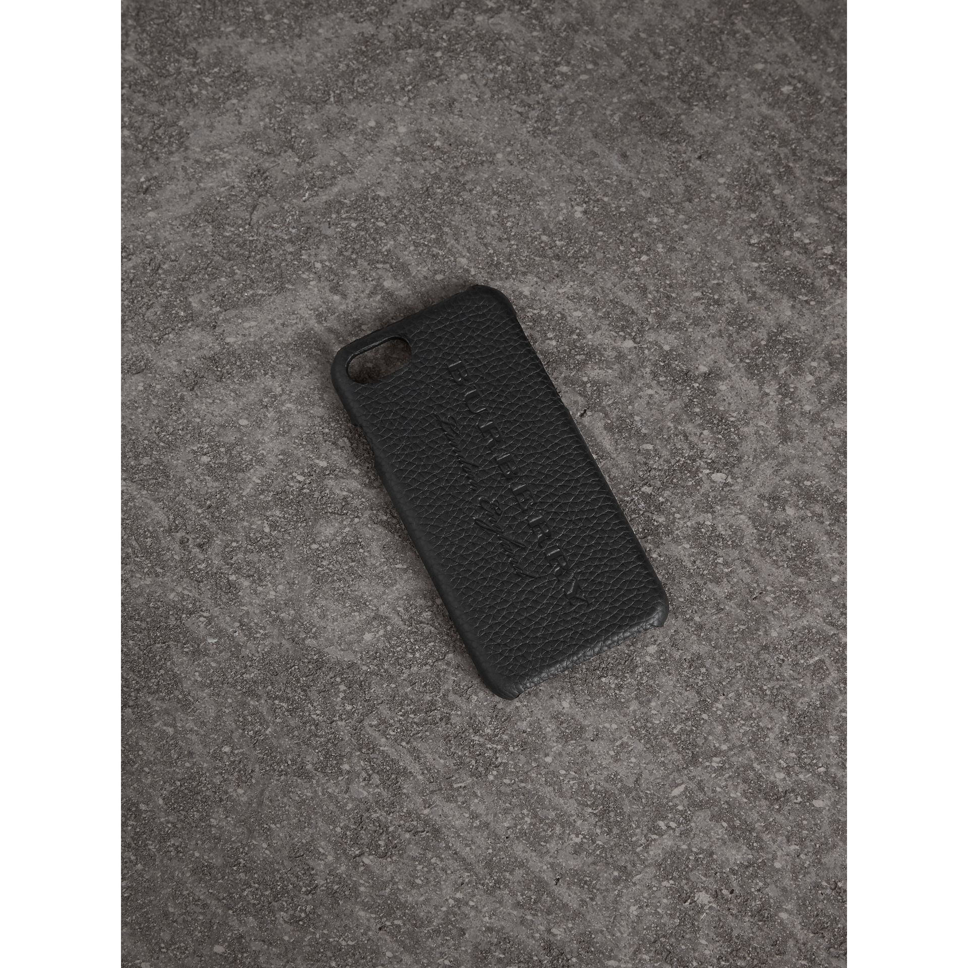 London Leather iPhone 7 Case in Black | Burberry - gallery image 0