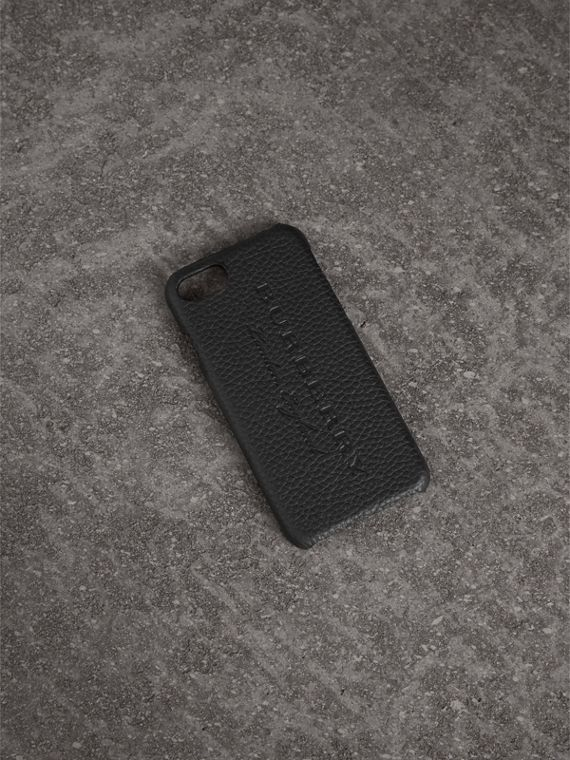 iPhone 7-Etui aus London-Leder (Schwarz)