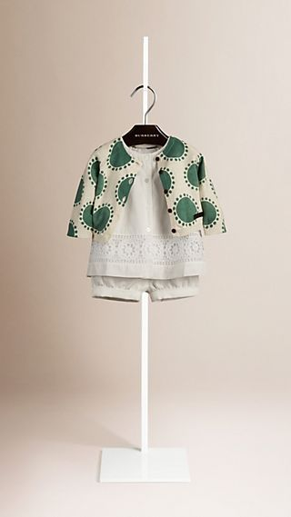 Graphic Print Linen Cotton Cardigan