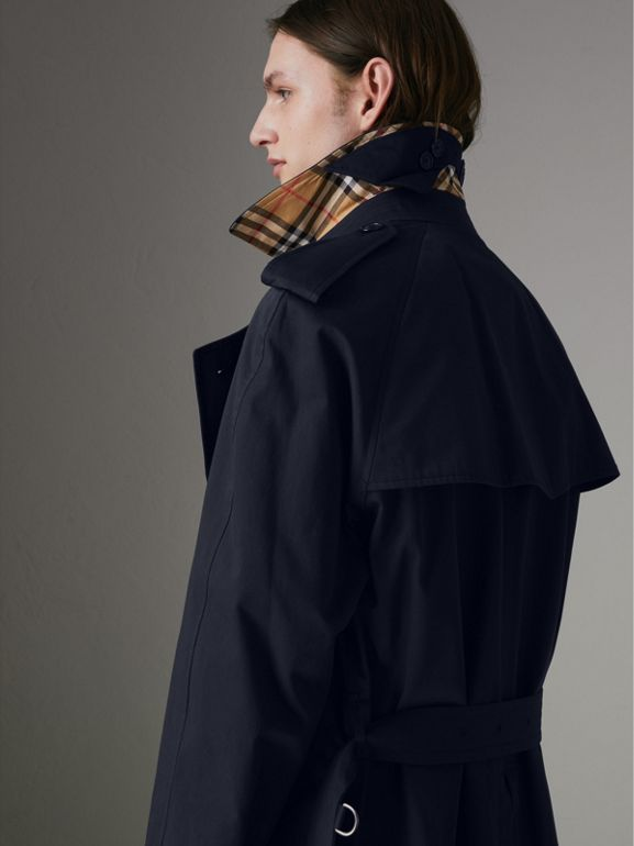 Painted Vintage Check-lined Gabardine Trench Coat in Ink Blue - Men | Burberry Hong Kong - cell image 1