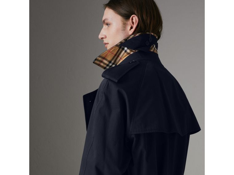 Painted Vintage Check-lined Gabardine Trench Coat in Ink Blue - Men | Burberry Singapore - cell image 1