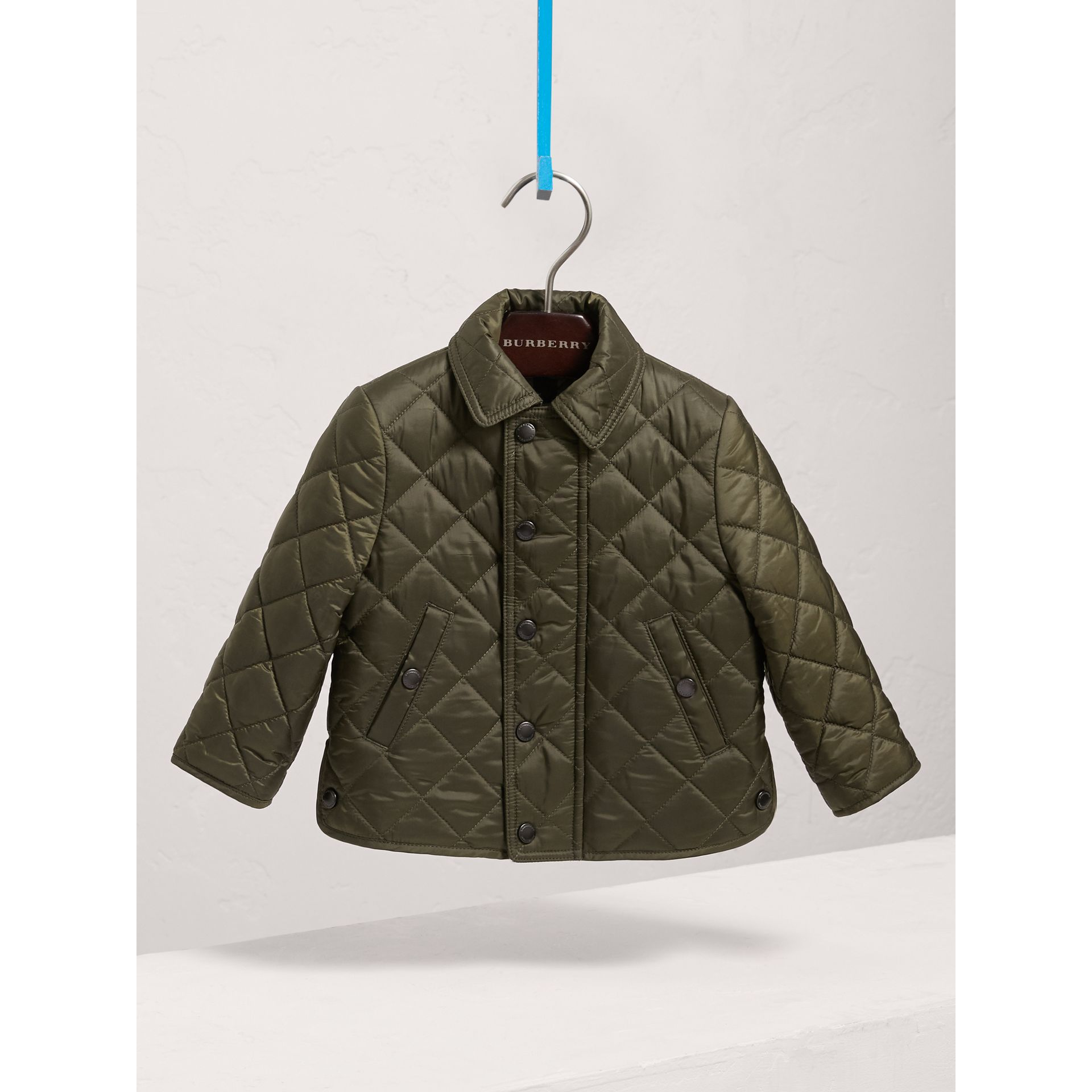 Lightweight Quilted Jacket in Olive | Burberry - gallery image 0