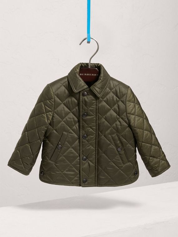 Lightweight Quilted Jacket in Olive