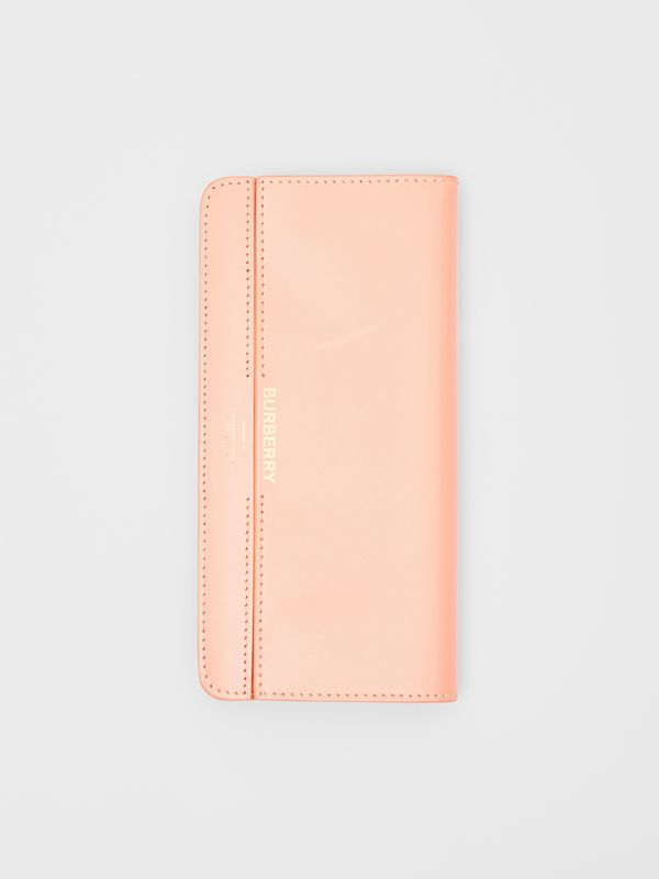 Horseferry Embossed Leather Continental Wallet in Blush Pink - Women | Burberry - cell image 2
