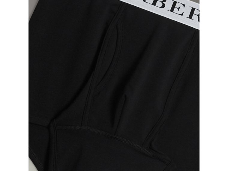 Stretch Cotton Boxer Shorts in Black - Men | Burberry United Kingdom - cell image 1