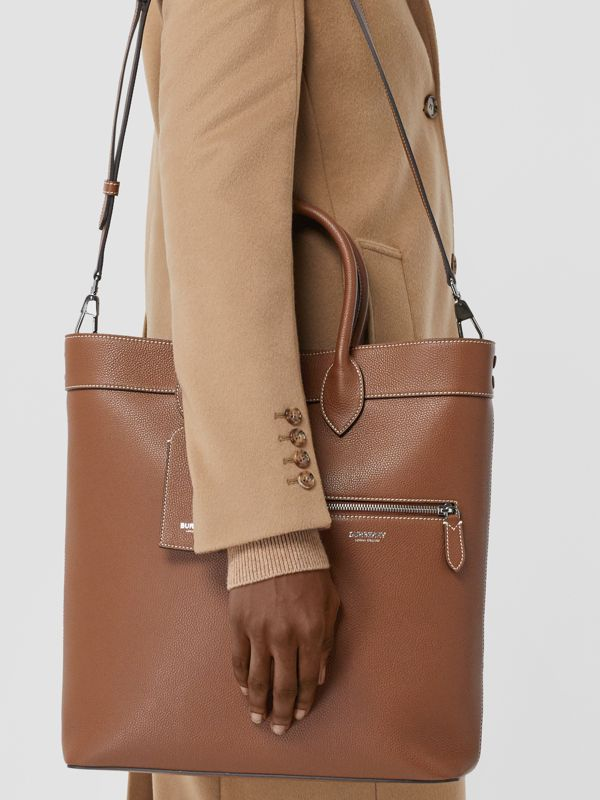 Grainy Leather Tote in Tan | Burberry - cell image 2