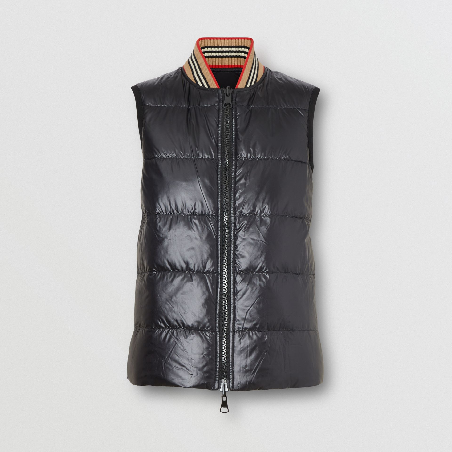 Coated Nylon Hooded Parka with Detachable Gilet in Black - Women | Burberry United States - gallery image 1