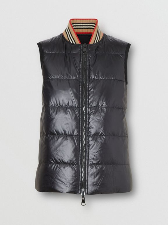 Coated Nylon Hooded Parka with Detachable Gilet in Black - Women | Burberry United States - cell image 1