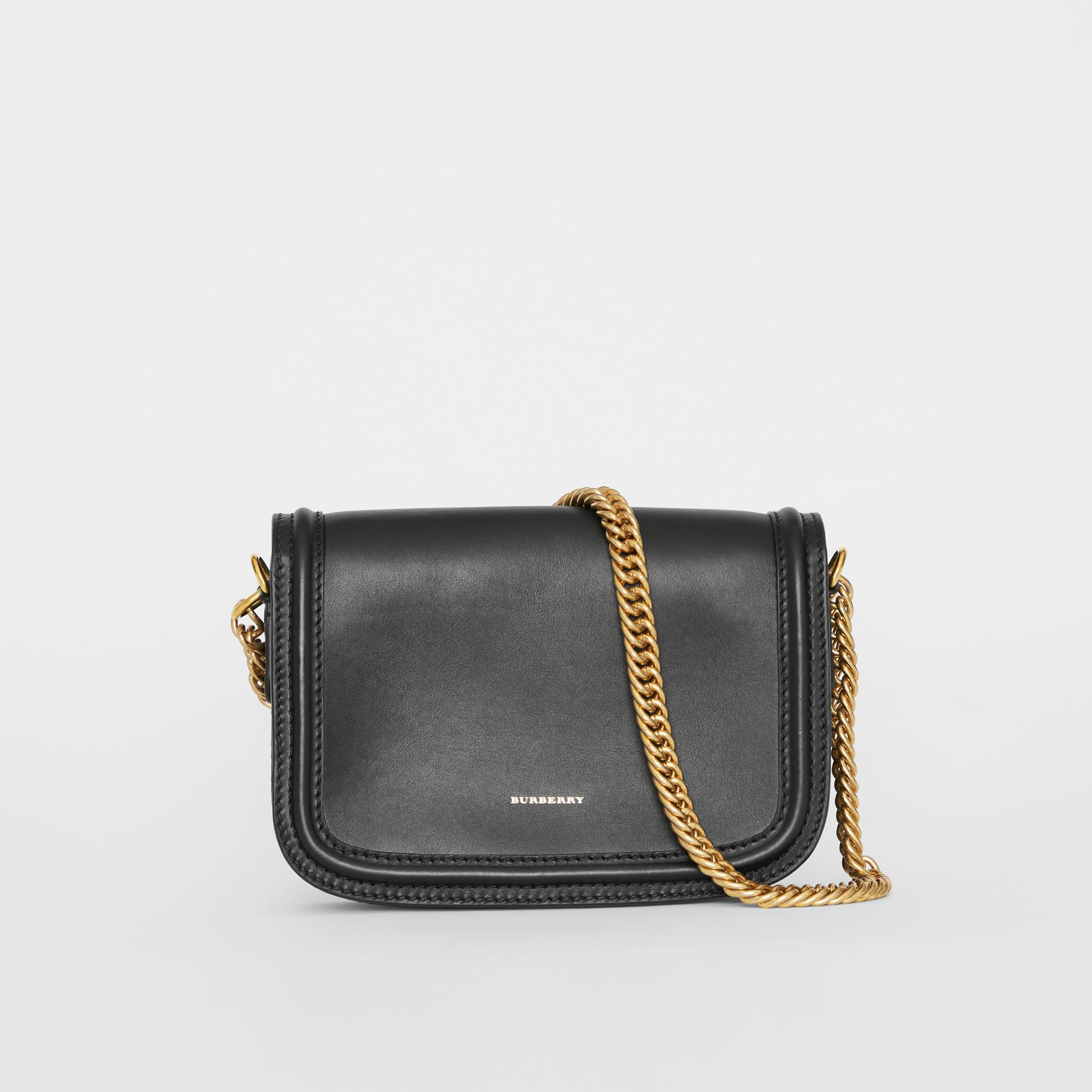 The Leather Link Bag in Black - Women | Burberry - gallery image 5