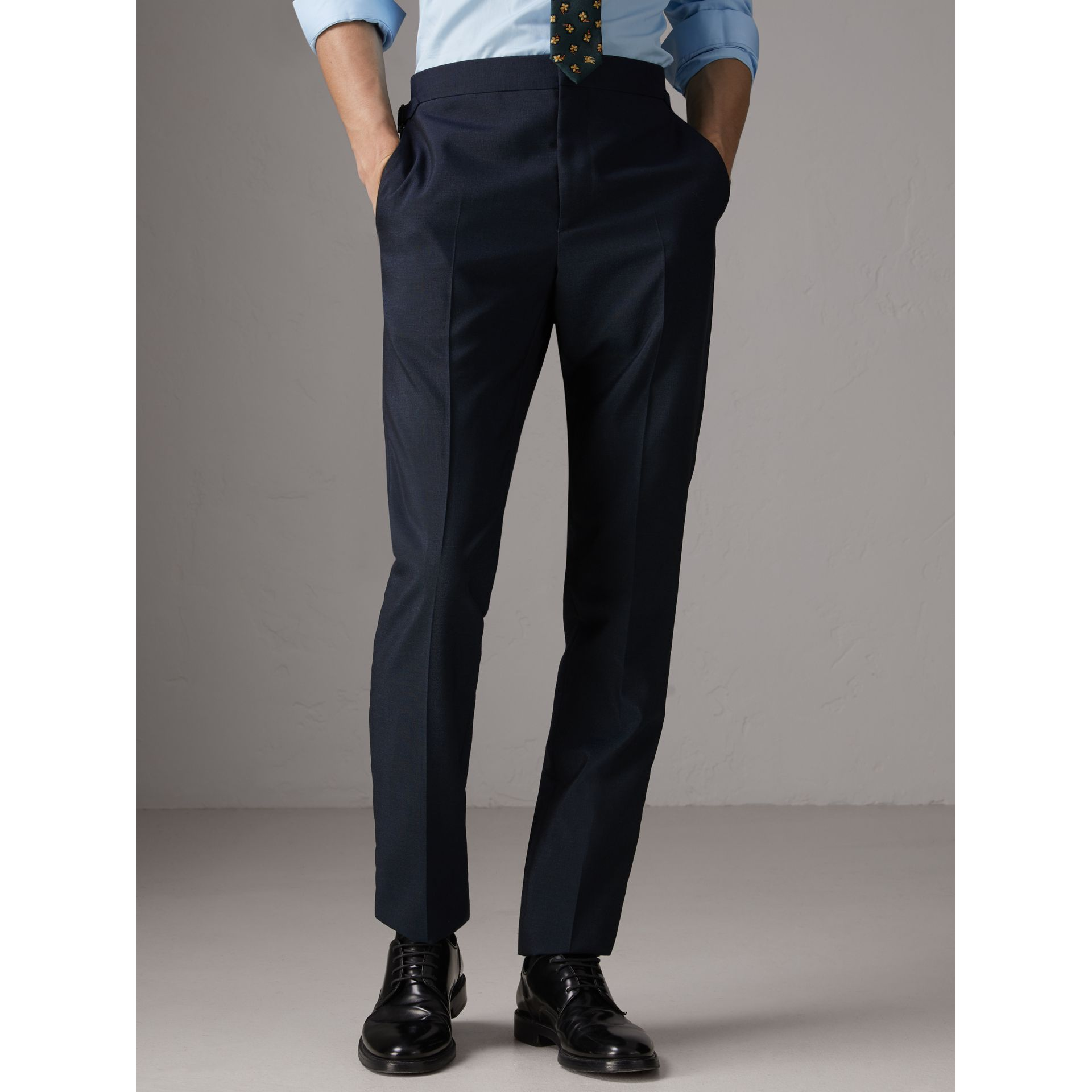 Slim Fit Wool Half-canvas Tuxedo in Navy - Men | Burberry - gallery image 7