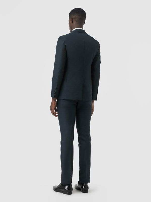 Slim Fit Wool Mohair Silk Suit in Dark Teal - Men | Burberry - cell image 2