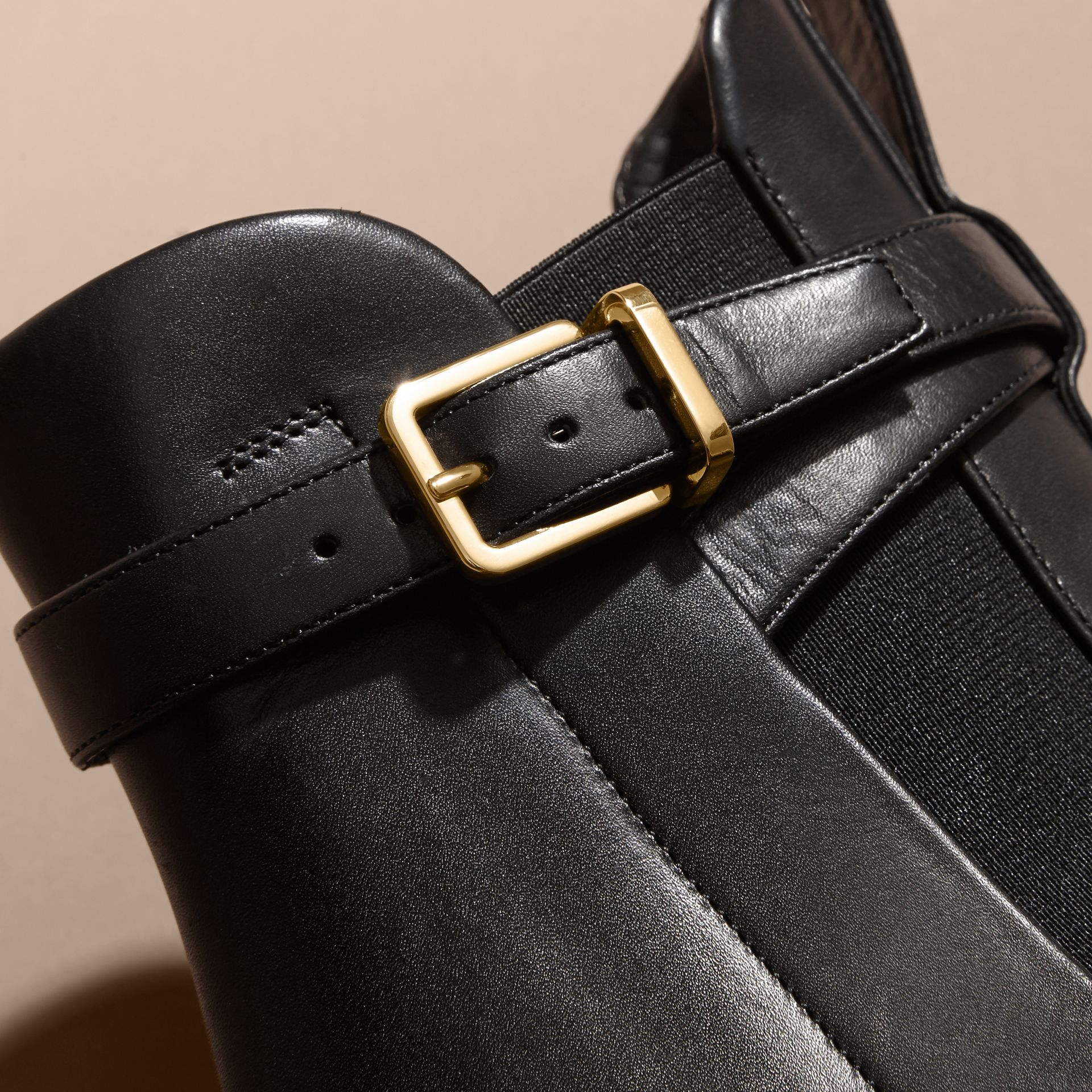 Buckle Detail Leather Chelsea Boots - gallery image 2
