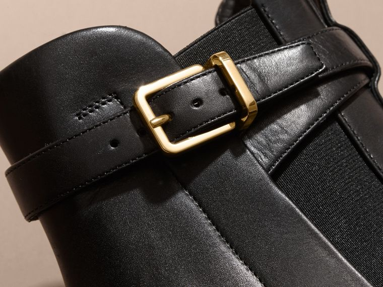 Buckle Detail Leather Chelsea Boots - cell image 1