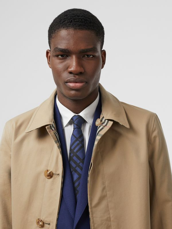 Classic Cut Check Silk Jacquard Tie in Canvas Blue - Men | Burberry Hong Kong S.A.R - cell image 2