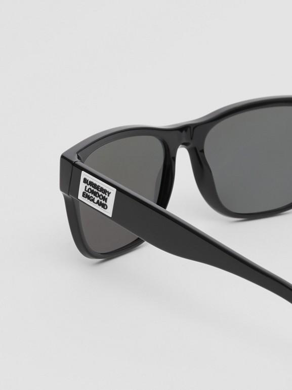 Logo Appliqué Square Frame Sunglasses in Black - Men | Burberry - cell image 1