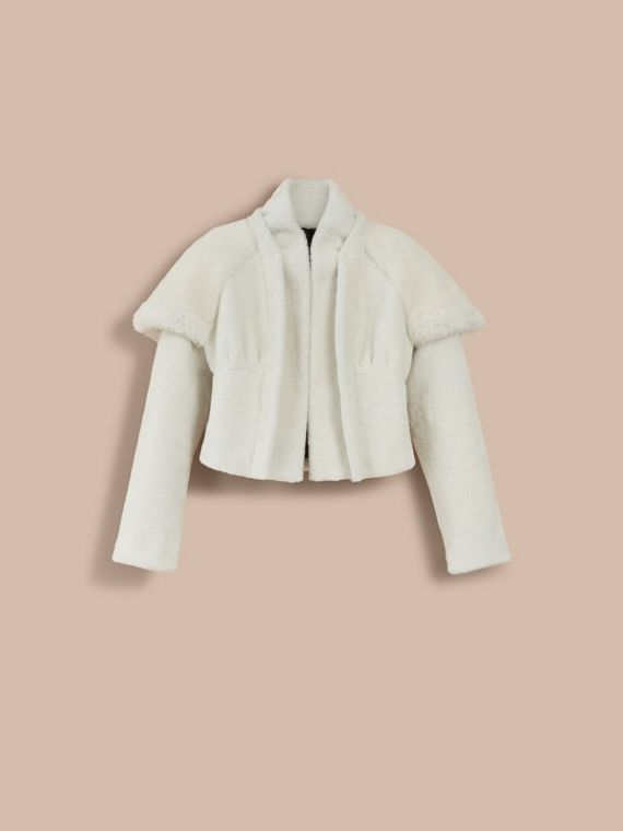 Cape-shoulder Cropped Shearling Jacket - Women | Burberry - cell image 3